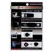 C-Slide Webcam Cover Security Pack - Black