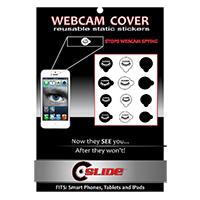 C-Slide Webcam Cover Static Sticker - Black