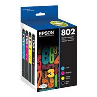 Epson 802 Black and Color Ink Cartridge 4-Pack