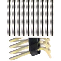 "Schmartboard Inc. 0.1"" Spacing 40-Single Row Right Angle Headers - 10 Pack"