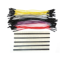 "Schmartboard Inc. 5"" Multi-Color Female Jumpers (10-Pack) w/ 200 Headers"