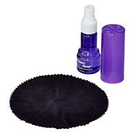 Gear Head Cleaning Kit with Steak-Free 1oz Spray and Antibacterial Microfiber Cloth