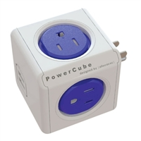 Allocacoc Corp PowerCube 4-Outlet Surge Protector w/ 2 USB Ports - Blue