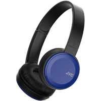 JVC Lightweight Wireless Bluetooth On-Ear Headphones - Blue