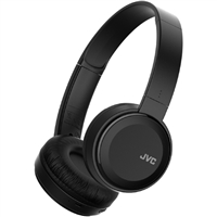 JVC Lightweight Bluetooth Headphones w/ Mic- Black
