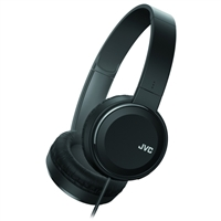 JVC Lightweight On-Ear Headphones w/ Integrated Remote - Black