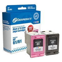 Dataproducts Remanufactured HP 61 Black / Tri-color Combo Pack