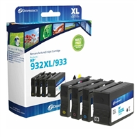 Dataproducts Remanufactured HP 932XL/933 High Yield Black and Standard Color Ink Cartridge Multi-Pack