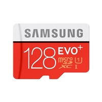 Samsung 128GB Evo+ CL10 UHS-1 / U3 MicroSD Flash Memory Card
