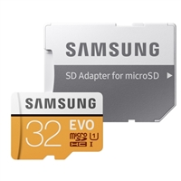 Samsung 32GB Evo microSDHC Class 10 / UHS-1 Flash Memory Card with Adapter
