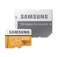 Samsung 128GB EVO microSDXC Class 10 / UHS-1 Flash Memory Card with Adapter
