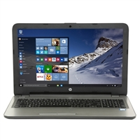 "HP 15-ay130nr 15.6"" Laptop Computer - Textured Linear Grooves with Horizontal Brushing in Turbo Silver"