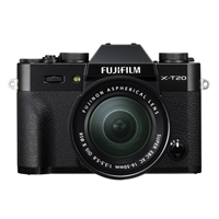 Fuji Fujifilm X-T20 Black Digital Camera with XC16-50mm Lens