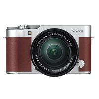 Fujifilm X-A3 Digital Camera with XC16-50mm Lens - Brown