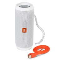 JBL Flip 4 Portable Bluetooth Speaker - White