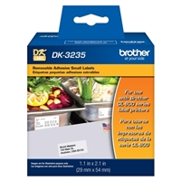Brother DK-3235 Removable Adhesive Small Labels