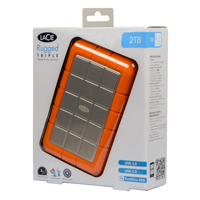 LaCie Rugged 2TB SuperSpeed USB 3.1 (Gen 1 Type-A), Firewire 800 Portable External Hard Drive