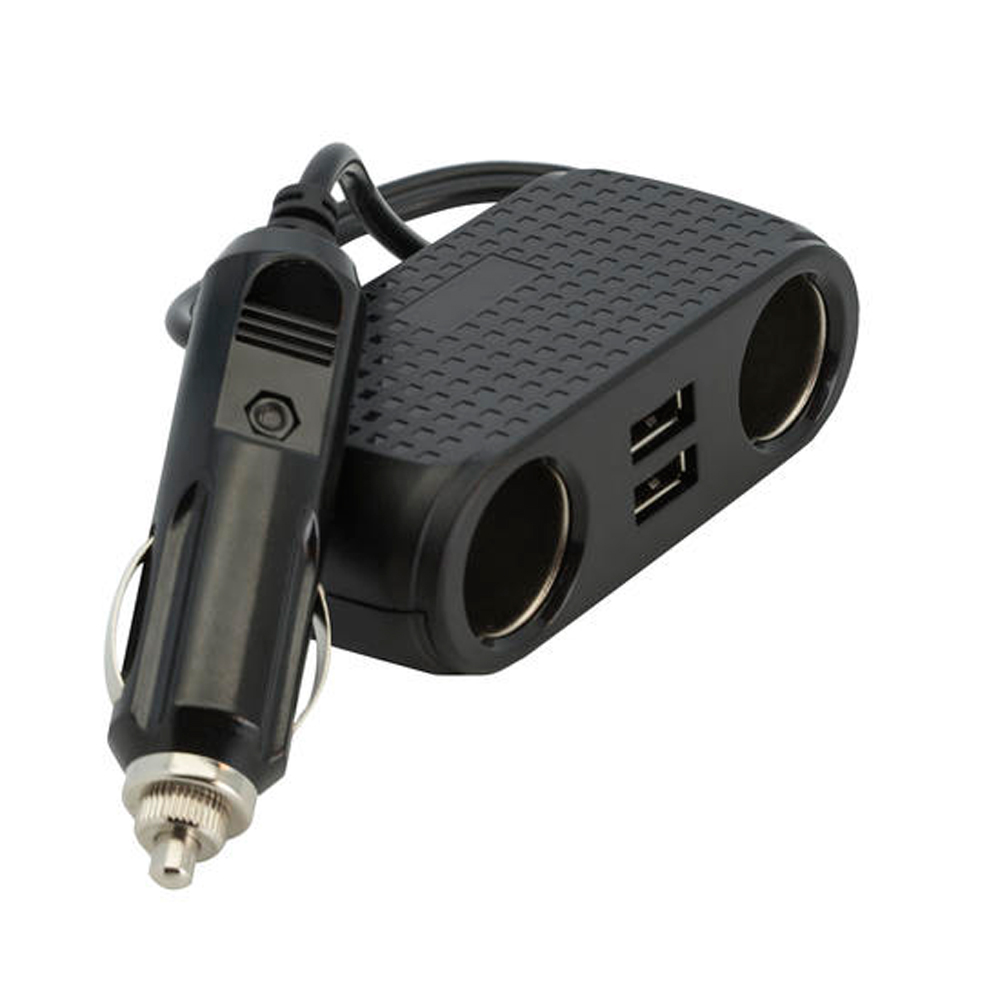 Bracketron BT Basics DuoPort Dual 12V Socket/USB Adapter
