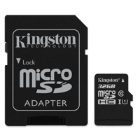 Kingston 32GB microSDHC Class 10 / UHS-1 Flash Memory Card