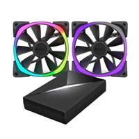 NZXT Aer RGB and HUE+ 120mm Case Fan - Twin Pack
