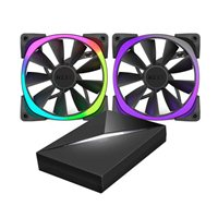 NZXT Aer RGB 140mm Case Fan and HUE+ Controller - Twin Pack