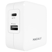 MacAlly 24 watt 2 Port USB-C and USB-A Wall Charger