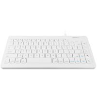 MacAlly Compact USB Wired Keyboard - White