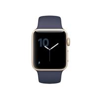 Apple Watch Series 2 38mm Gold Aluminum Smartwatch - Midnight Blue Sport Band