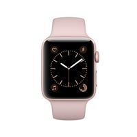 Apple Watch Series 2 42mm Rose Gold Aluminum Smartwatch - Pink Sand Sport Band