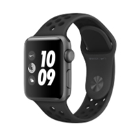 Apple Watch Nike+ Series 2 38mm Space Gray Aluminum Smartwatch - Anthracite/Black Nike Sport Band