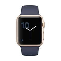 Apple Watch Series 1 38mm Gold Aluminum Case - Midnight Blue Sport Band