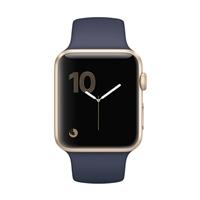 Apple Watch Series 1 42mm Gold Aluminum Case - Midnight Blue Sport Band