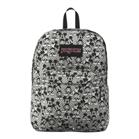 "Jansport Disney Superbreak Gray Rabbit Mickey Sketch Backpack Fits Screens up to 16"" - Gray"