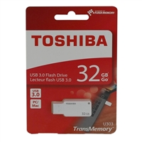 Toshiba 32GB TransMemory USB 3.0 Flash Drive - Black