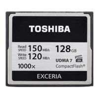 Toshiba 128GB Exceria 1000x Compact Flash Memory Card CF