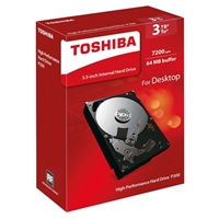 "Toshiba P300 3TB 7200RPM SATA III 6Gb/s 3.5"" Internal Hard Drive"