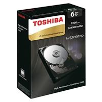 """Toshiba X300 6TB 7,200 RPM SATA III 6Gb/s 3.5"""" Desktop Internal Hard Drive - HDWE160XZSTA"""