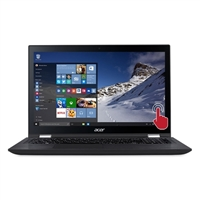 "Acer Spin 3 15.6"" 2-in-1 Laptop Computer Factory Refurbished - Black"