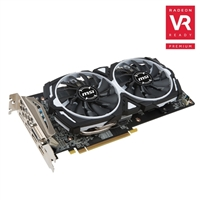 MSI Radeon RX 580 Armor Overclocked Dual-Fan 8GB GDDR5 PCIe Video Card
