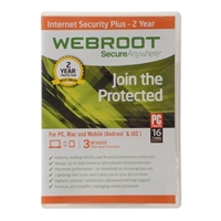 Webroot Software Internet Security Plus - 3 User/ 1 Year