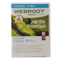 Webroot Software SeureAnywhere Antivirus - 2 Years