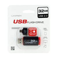Unirex 32GB OTG USB 2.0 Flash Drive Bundle