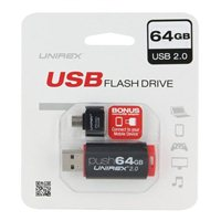 Unirex 64GB OTG USB 2.0 Flash Drive Bundle