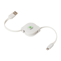 Emerge Retractable White Charge/Sync Lightning Cable