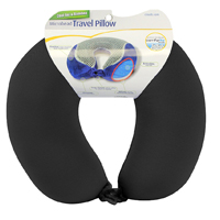Cloudz Cool Gel and Bamboo Microbead Travel Pillow - Black