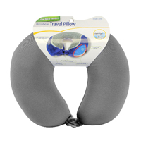 Cloudz Cool Gel and Bamboo Microbead Travel Pillow - Grey