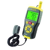 General Tools 9-in-1 Temperature-Humidity Meter with Pin/Pinless Moisture Meter