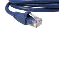 Shaxon RJ-45 Male to RJ-45 Male Category 6a Patch Cord 14 ft. - Blue
