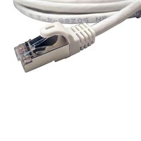 Shaxon RJ-45 Male to RJ-45 Male Category 7 Shielded Patch Cord 50 Ft. - White