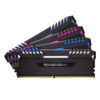 Corsair Vengeance RGB 32GB 4 x 8GB DDR4-3333 PC4-26600 C16 Dual Channel Desktop Memory Kit